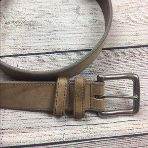 Men's COACH Natural Calfskin leather belt 40